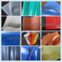 Weather resistant UV-treated and fire retardant PVC tarpaulin