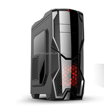 beautilful design gaming full tower pc case/atx gaming computer case with transparent sidewindow