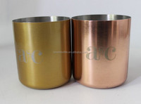 copper wax candle cup,400ml metalTealight Candles with copper,Golden finish brass metal soy candle,copper Empty Tealight Cups