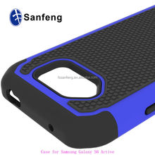 PC Silicone Heavy Duty Triple Defender Case For Galaxy S6 Active Phone Case