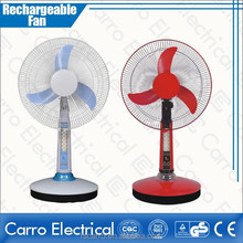 Family Emergency 16 inch 12v AC DC solar charge the battery operated fans
