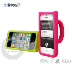 Fashion mug shape colorful silicone cell phone cover for iphone 5