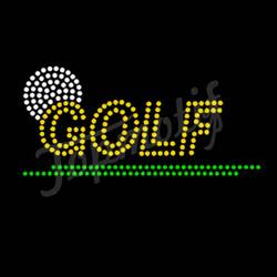 Custom Free Rhinestone Templates Golf Hot Fix Crystal Iron On