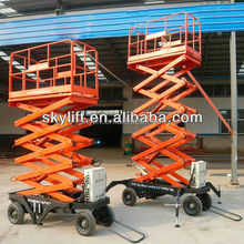 Hydraulic Drive Mobile Scissor Sky Lift with Four Wheel