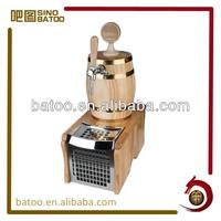 Oak wooden beer barrel cooler with tap