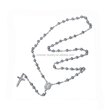 Stainless Steel Jesus rosary necklace DongGuan Jewelry LN3301