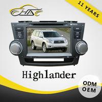 in dash Car DVD GPS navigation built in radio player for Toyota highlander