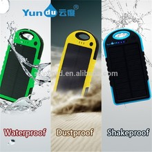 2015 Trending new products 5000mah waterproof rohs solar cell phone charger