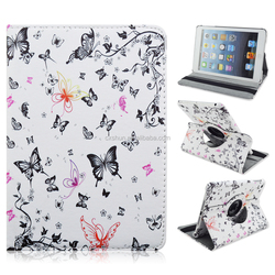 For Apple iPad Mini case 360 Rotating Magnetic PU Leather Flip case Butterfly case