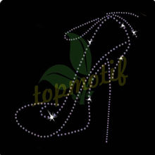 Fashion Girl High Heel Shoes Rhinestone Transfer For Boutique T-shirt
