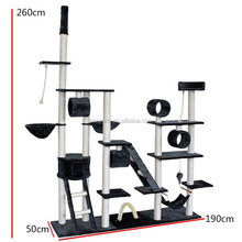 Luxury and big family 260cm height cat tree with floor