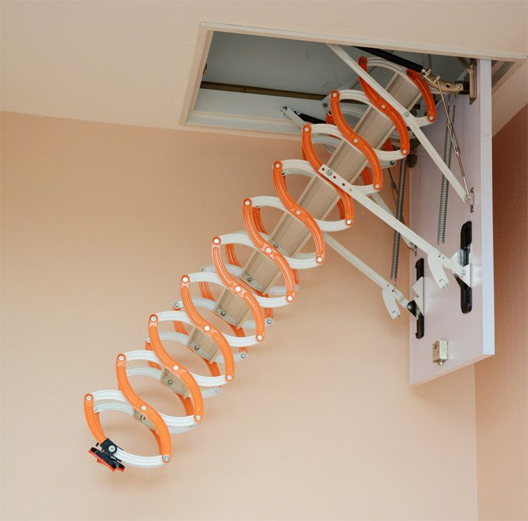 Telescoping Attic Ladder : Household aluminum telescopic ladder staircase thickened