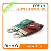 2016 new leather usb flash drive 2GB, free silk print logo usb flash drive 2GB