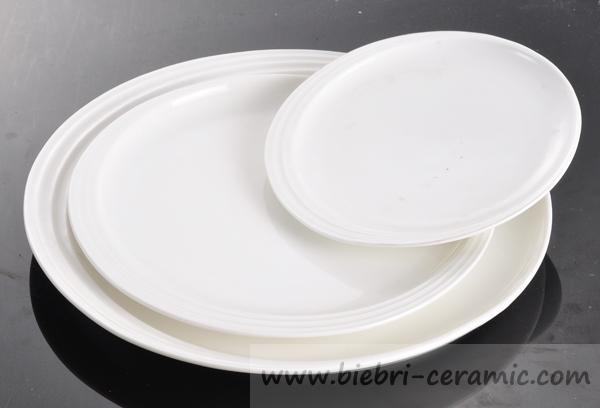 Plain White Customized Decal Design Ceramic Bread Dessert