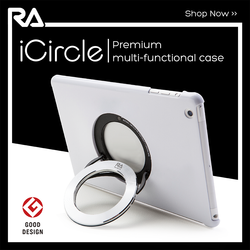 iCircle Air 2 White, 2015 Hot Sale Stylish back cover case stand for iPad Air 2