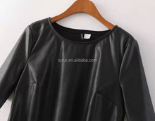 fashion girls slim short PU leather T shirt with short sleeve and women's sexy jacket faux leather coat