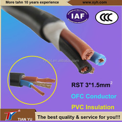 High Quality RST 3*1.75mm Water Resistant Cable Copper Conductor PVC Insualted Wire
