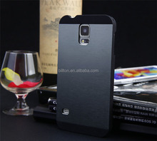 For samsung galaxy S5 i9600 brushed metal cell phone case