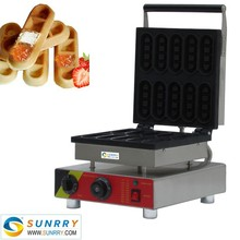 Stainless steel electric mini lolly caramel bar waffle maker