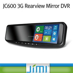 Jimi 3g wifi gps navigation android system gps car tracker rear view mirror camera recorder