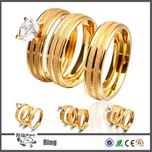 China Supplier wholesale custom 24k gold Stainless Steel wedding ring