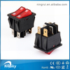 High quality dpdt double button rocker switch illuminated rocker switch 16A250V 20A125V