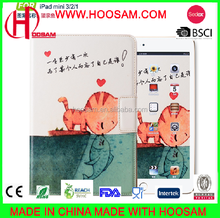 lovely cartoon cover case for ipad mini