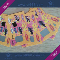Anti-counterfeit scratch off card with custom design