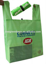 Economy Advertising Polyester cheap nylon foldable bag with your logo