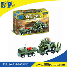 DIY military transport missile truck models building blocks toy