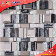 AE48 New Trends Hot Sale Resin Mix Glass Mosaic Tile Kitchen