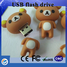 New products on china market teddy bear pen drive for gift bag