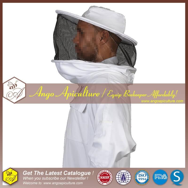 100% Коттен би Костюм с Круглым Вуаль для Пчеловодства одежда