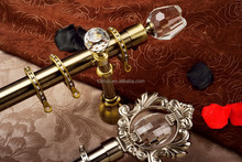2015 new design single double curtain rod accessories curtains rods decorative glass curtain rod finial
