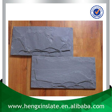 Chinese Factory Direct Sales Cheap Handmade Mushroom Edge 20*10*1cm Black Decorative Slate Stone Wall Covering