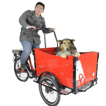 CE approved dutch reverse electric 3 wheel trike price/cargo trike bicycle