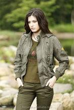 Promotion 100% cotton fabric sport lady jacket