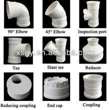 PVC pipe joint components