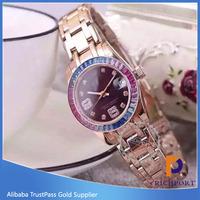 Slim belt vogue watch ,Women crystal watch,Japan movt watch price