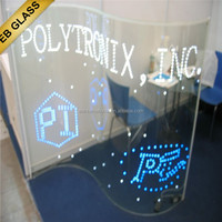 stained glass flash glass sheet, glass led display, eb glas