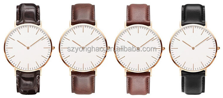 2014 hot sale fashion watches with quality leather and nylon band