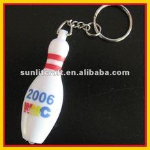 hard plastic bowling shape led keychain