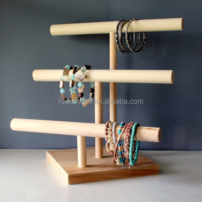 Bangle Stand Designs : Cheap price counter top mdf bangle display stand wooden