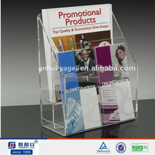 custom clear arcylic house and office book holder/book diaplay stand/book rack