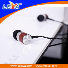 HD voice wired design fashion rosewood earphones with in-ear style