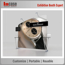 Portable aluminum tube tension fabric adjustable advertising display stand wall