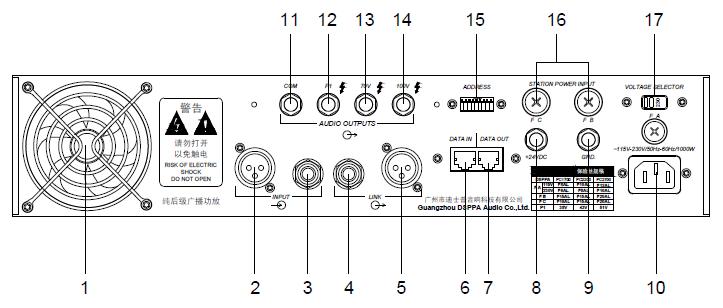 dsppa pc2700 650 watt crown power amplifier 70v 100v dj power amplifier