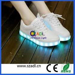 Alibaba China supplier hot sale Shenzhen Fashion simulation led light up shoes/led lights shoes/led shoes adult