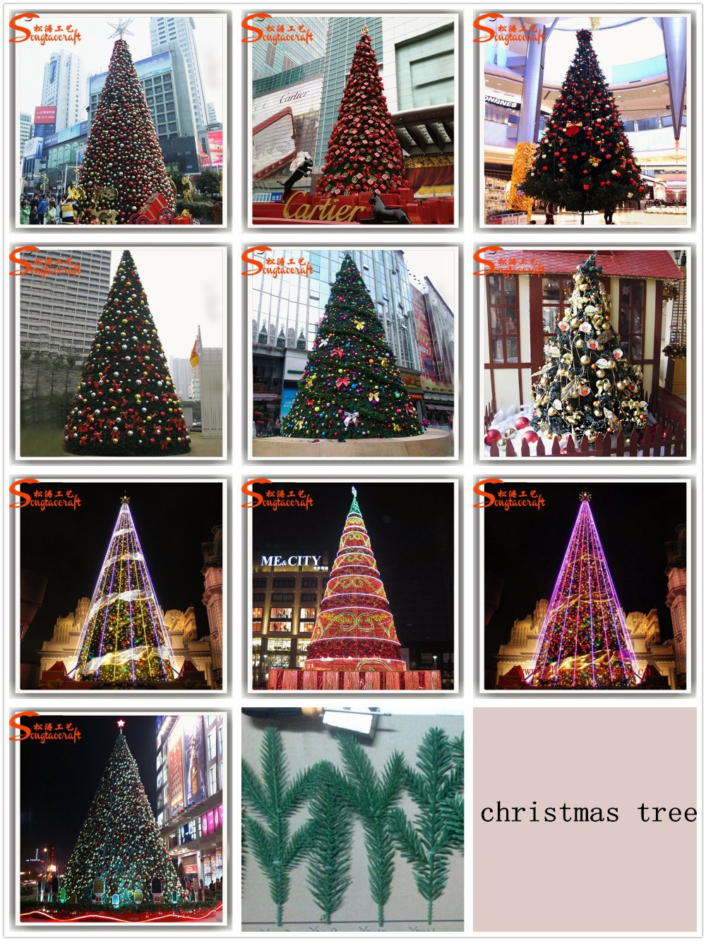 6meter metal frame artificial giant christmas tree ornament decoration large xmas tree
