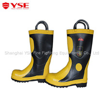 Fireman safety equipment safety personal protective boots